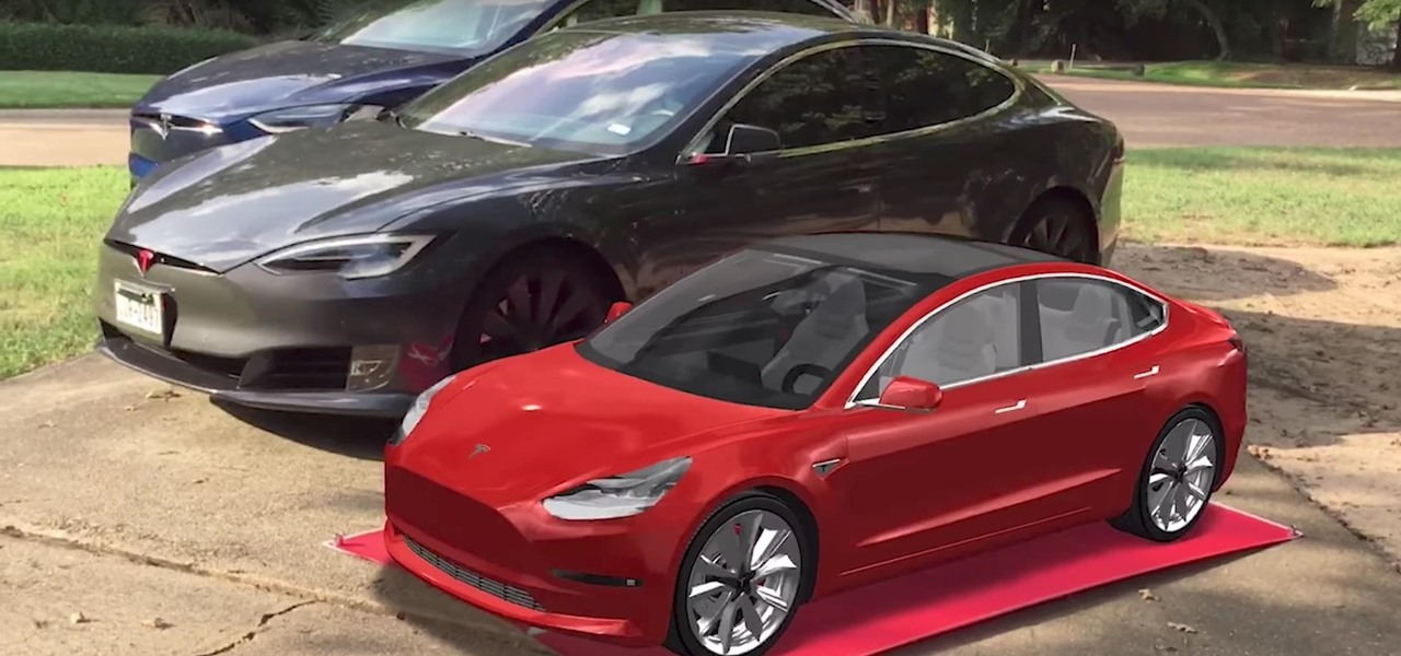 Augmented Reality App Lets You See the Tesla Model 3 Before It Ships