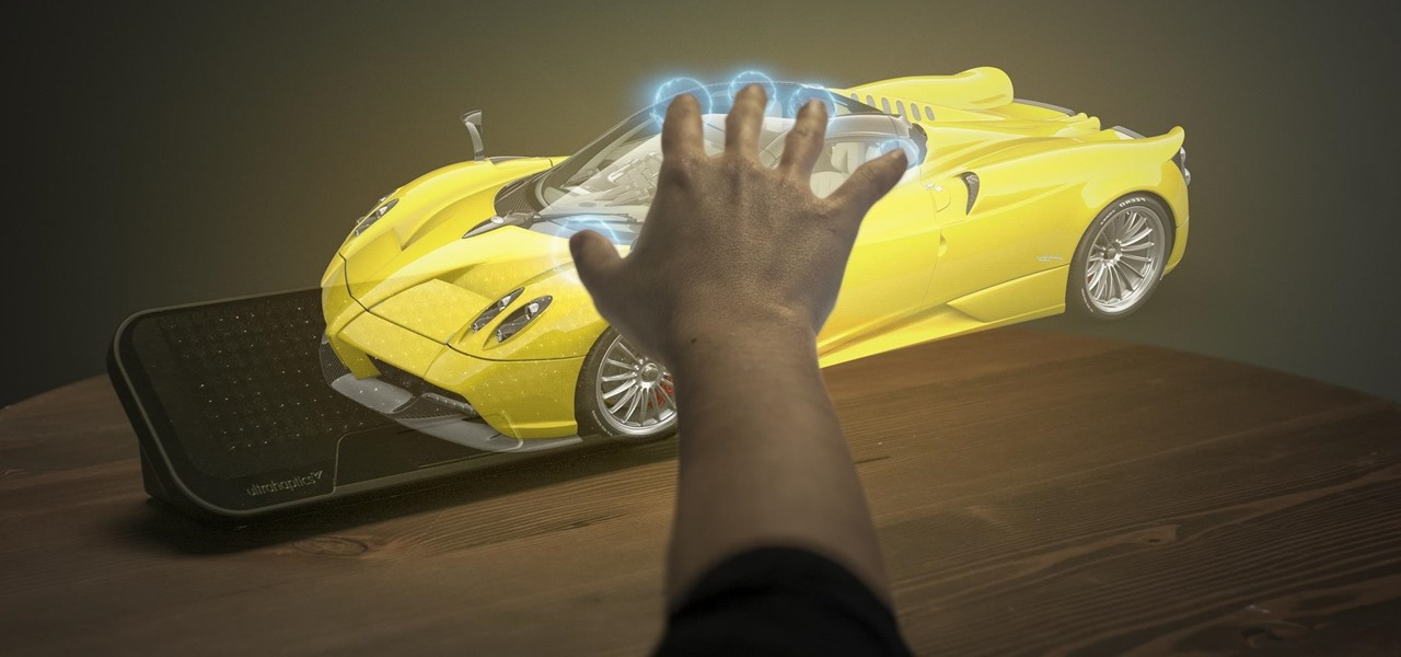 See & Feel a Supercar in Augmented Reality with Ultrahaptics on the Meta 2