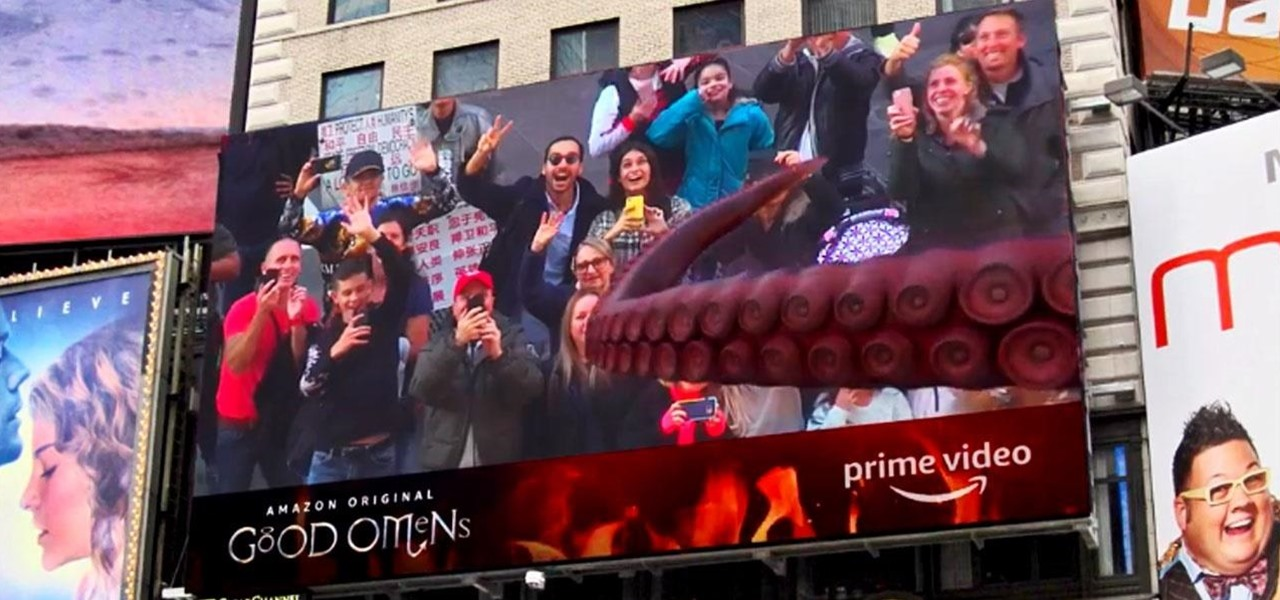 Amazon Prime Takes Over Times Square with Augmented Reality Apocalypse