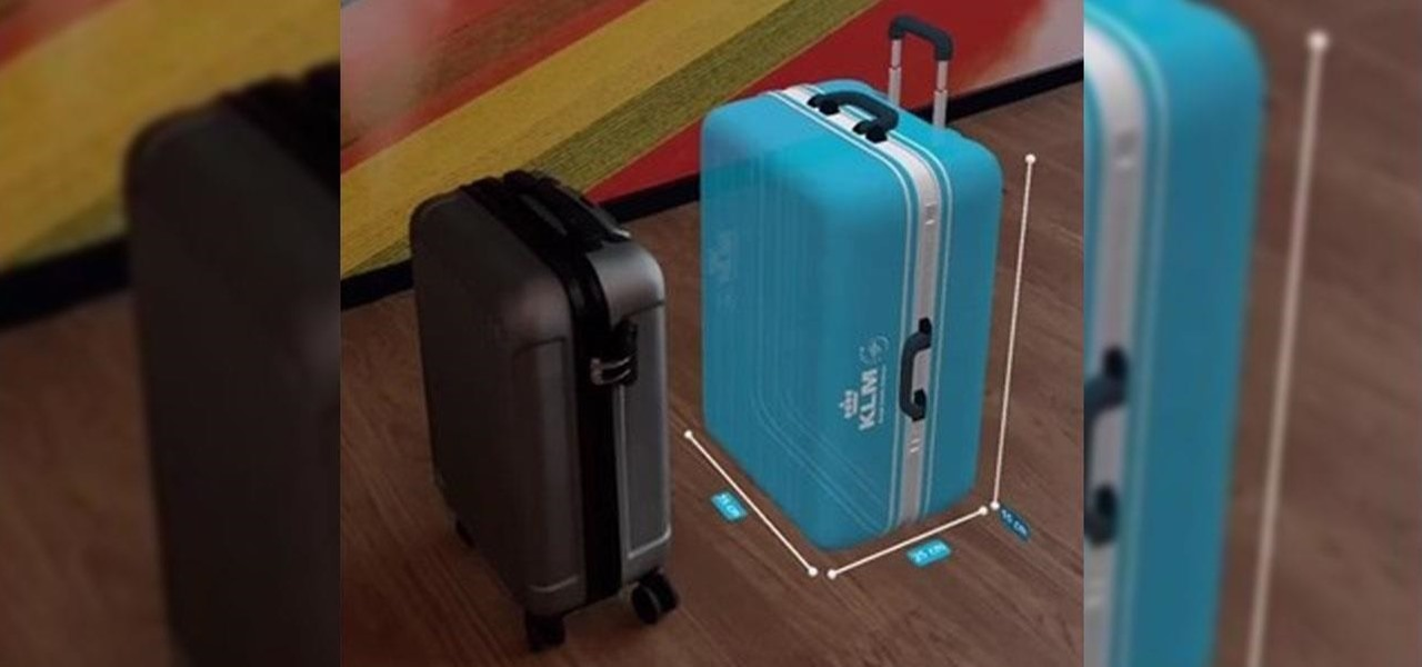 KLM Packs AR Suitcase into iPhone App to Help Passengers Check Luggage