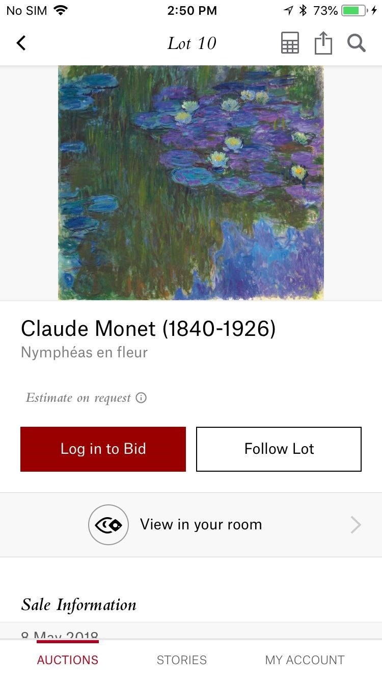 Christie's App Brings the Art of the Rockefellers to Your Living Room via Augmented Reality