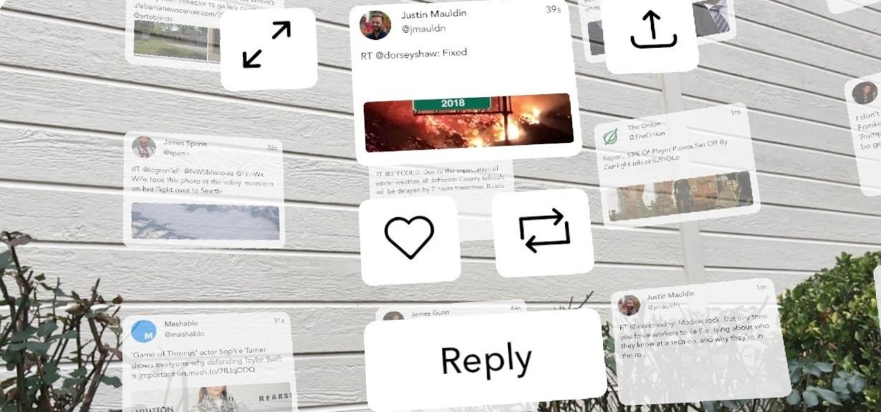 This App Lets You Take Your Twitter Obsession into Augmented Reality