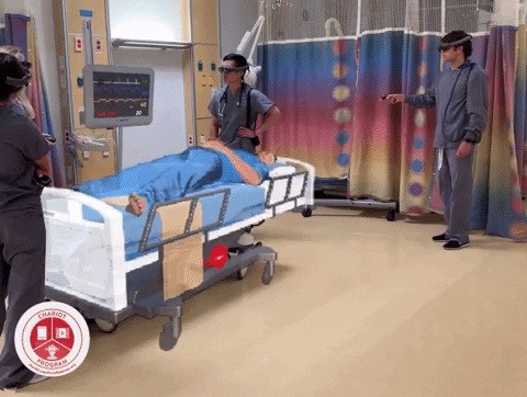 The Stanford Children's Hospital is experimenting with the magical leap of one to re-invent medical training simulations.