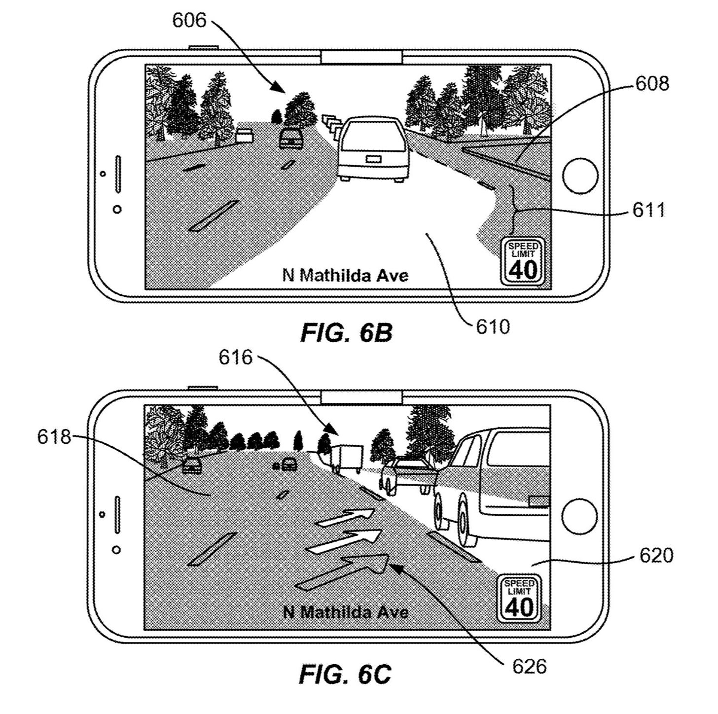 by Apple Latest Patent Proposes Augmented-Reality Navigation for Cars on Mobile Devices