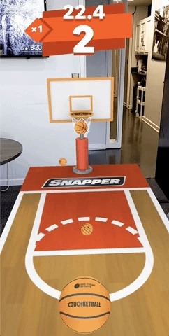 USA Today Teams Up with 8th Wall to Launch AR Basketball Game for March Madness