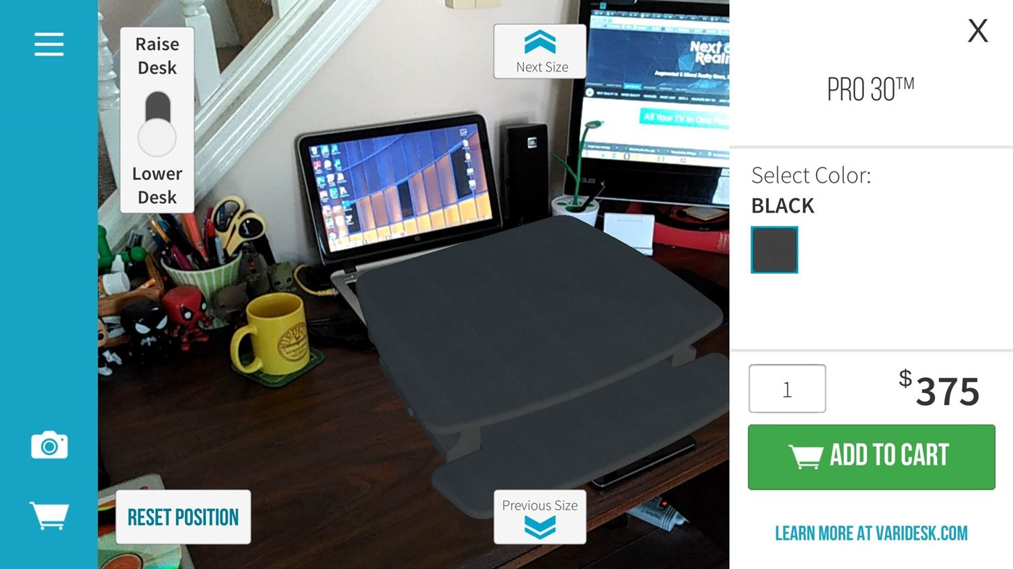 Varidesk Raises App to Visualize & Purchase Standing Desks