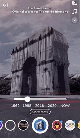 Snap Teams with Sotheby's to Launch Historic AR Lens Hailing the Art of Christo & the Arc De Triomphe in Paris