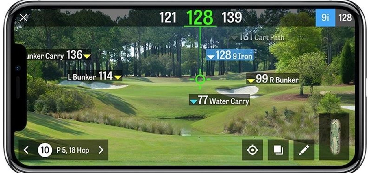 Golfshot Mobile App Chips in AR Mode for Measuring Shots on the Course