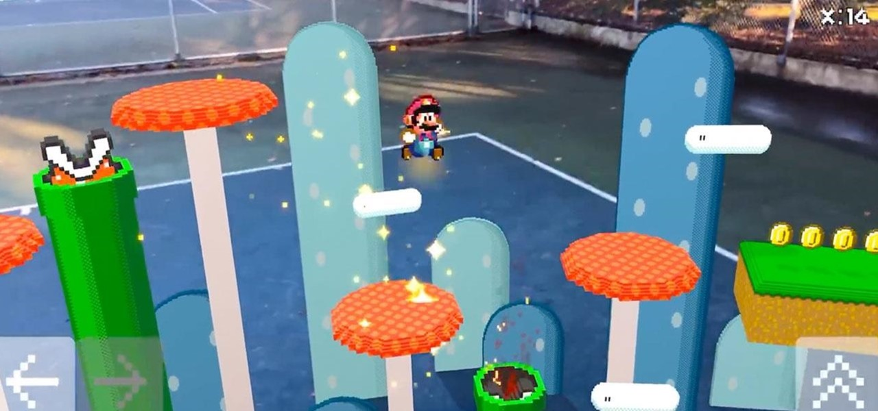 Super Mario Augmented Reality Game Connects the Past with Gaming's Future