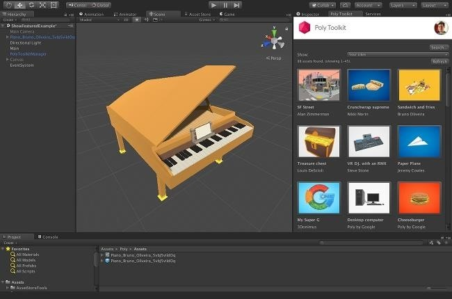 Dev Report: Find & Use 3D Objects Faster with Google's Poly API & the Unity Editor