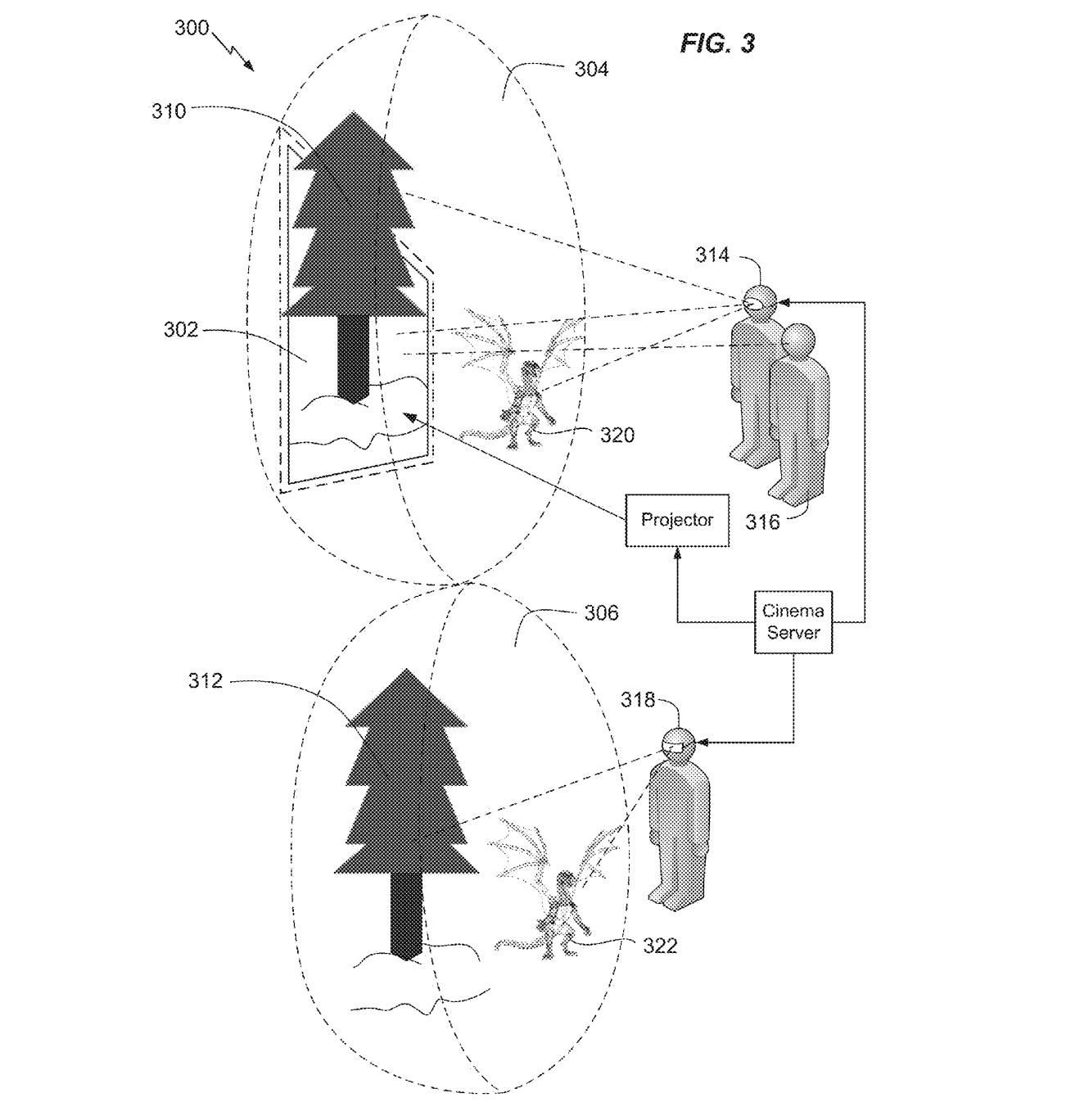 Warner Bros. Patents AR/VR Design for Full-Immersion Movie Theater Experience