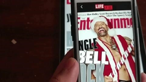 The Rock Pops Out of EW Cover with Augmented Reality