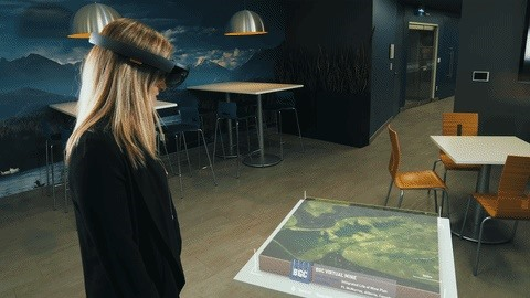 Detailed 3D Mining Maps & Future Reclamation Views Highlighted in Proof-of-Concept HoloLens App