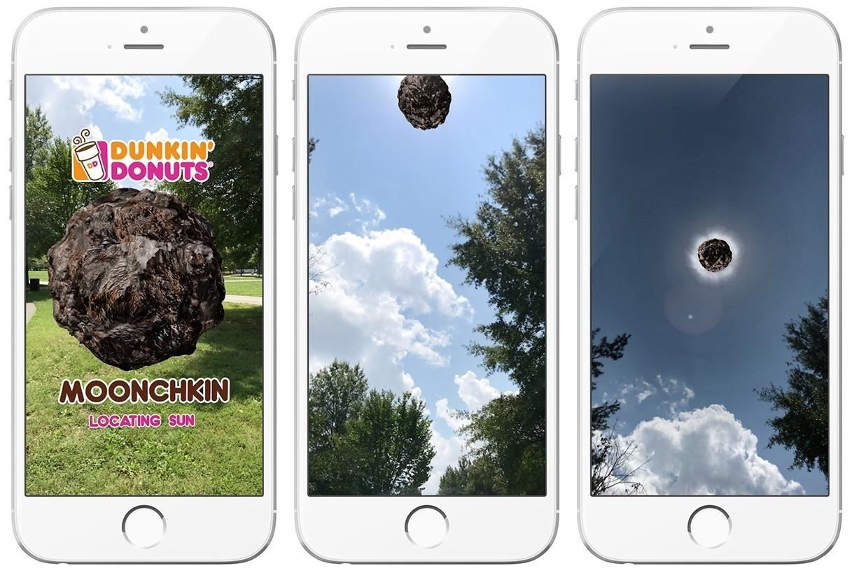 Apple AR: Dunkin Donuts Goes All in for the Solar Eclipse with 'Moonchkin' App