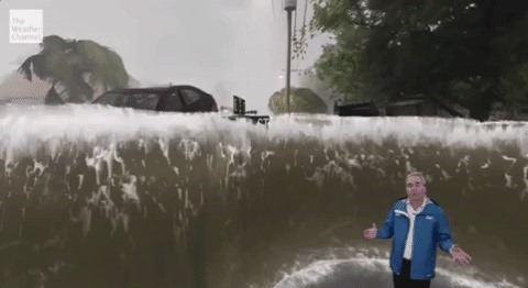 The Weather Channel Uses Broadcast AR to Warn Residents in the Path of Hurricane Florence