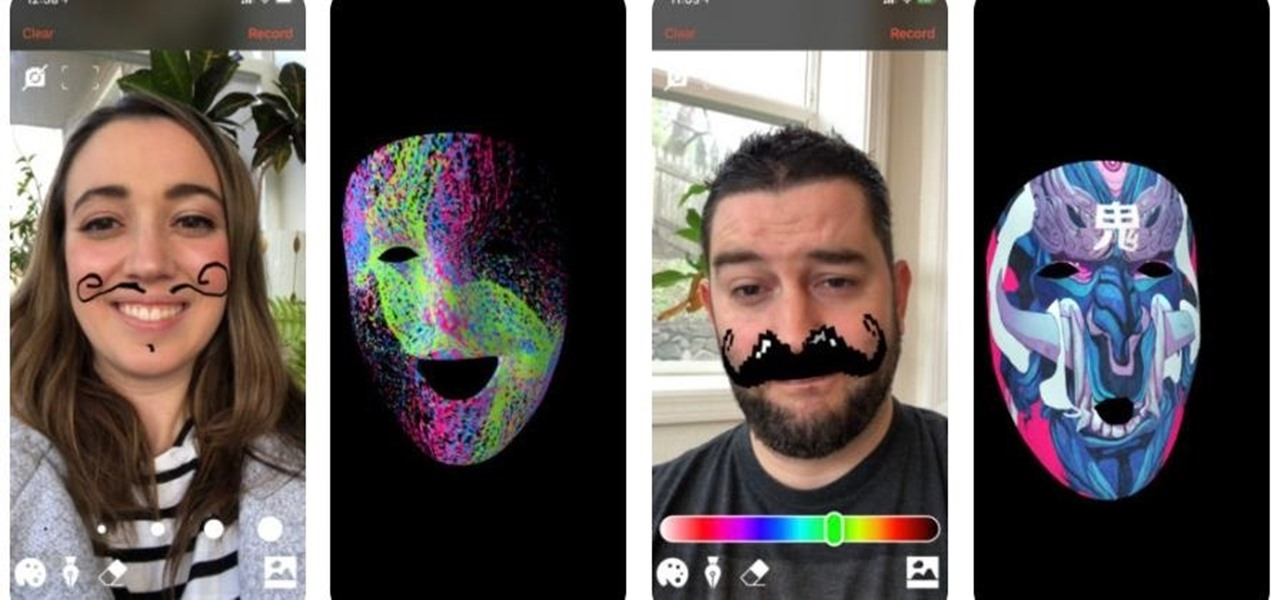 This App Turns the iPhone X into an AR Face-Painting Booth