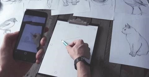 New App Lets Your Trace Drawings from Your Phone onto Paper