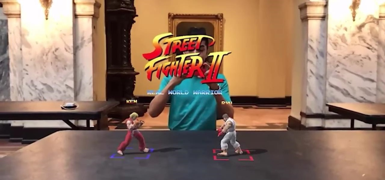 Developer Brings Street Fighter into Real World as Multiplayer Augmented Reality Mobile Game