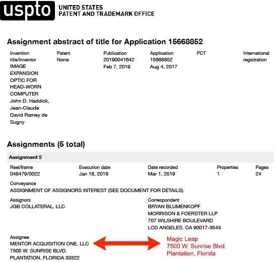Exclusive: ODG filing points to a magic leap in the acquisition of auctioned patents