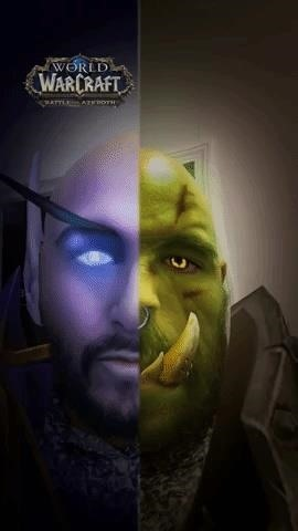 World of Warcraft Lens on Snapchat Lets You Transform into Orc or Elf & Do Battle in Augmented Reality
