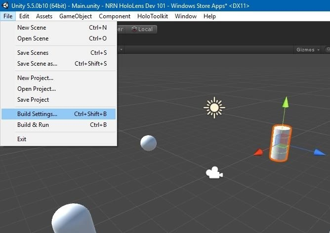 HoloLens Dev 101 : How to Build a Basic HoloLens App in Minutes