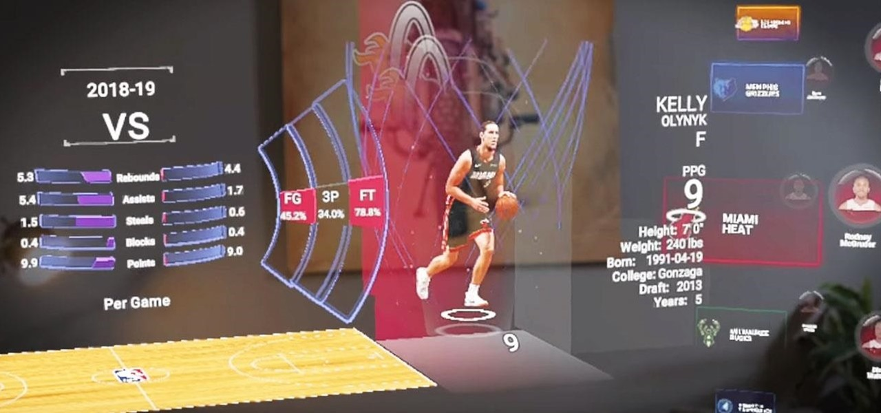 NBA Update Delivers Live Games & Player Comparison Stats in Magic Leap App