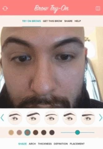 This App Takes Eyebrows from Bushy to Blessed via Augmented Reality