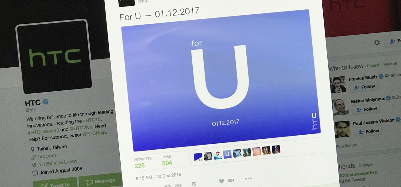 HTC's Cryptic 'for U' Tweet Could Signal a Move into Augmented Reality