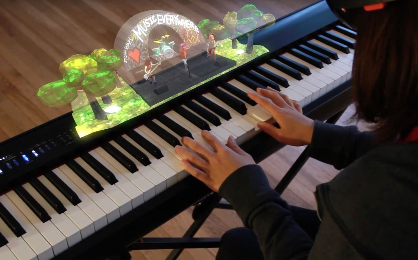 Proof of Concept: Music Everywhere Uses HoloLens to Help Piano Students Learn Improvisation