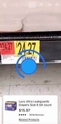 Walmart Turns Its iPhone App's Barcode Scanner into an Augmented Reality Price Comparison Tool