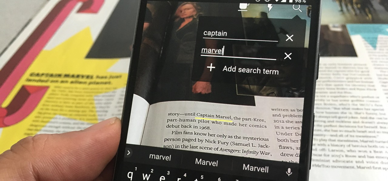 This Android App Lets You Search for Specific Words in Books & Documents via Augmented Reality