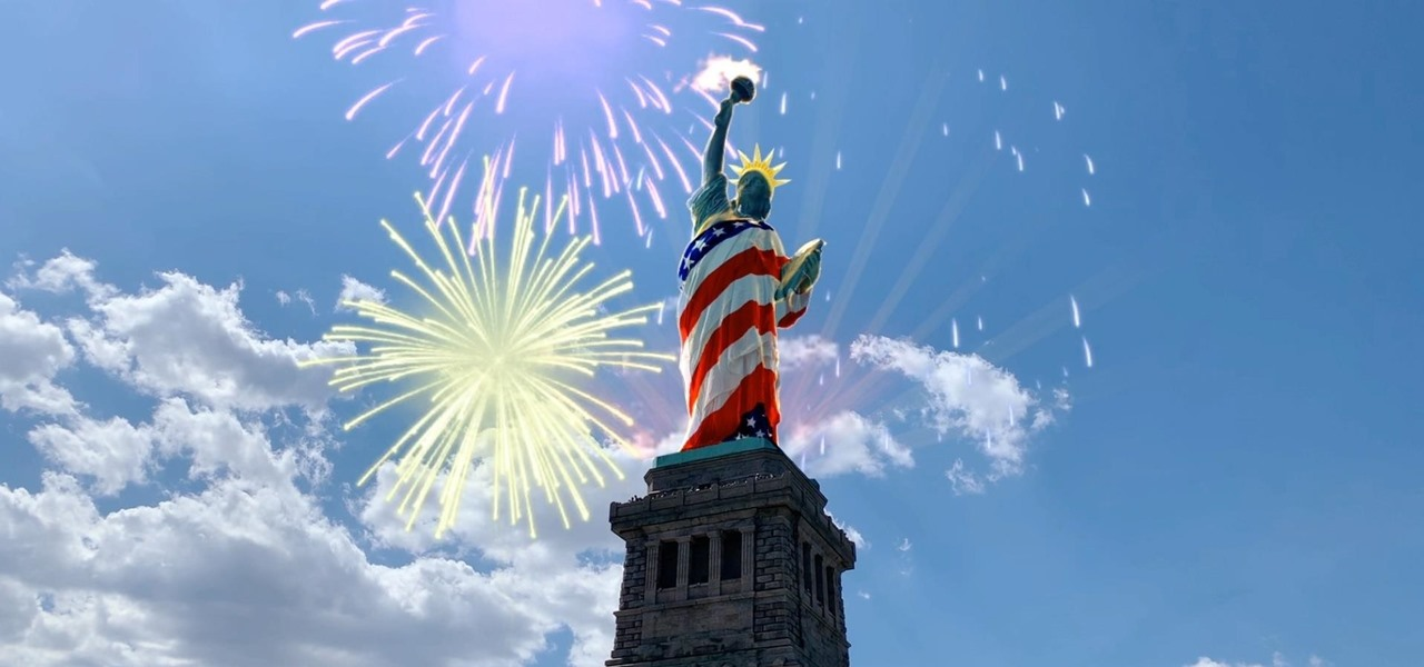 Snapchat Drapes the Statue of Liberty in the American Flag for Fourth of July Augmented Reality Lens