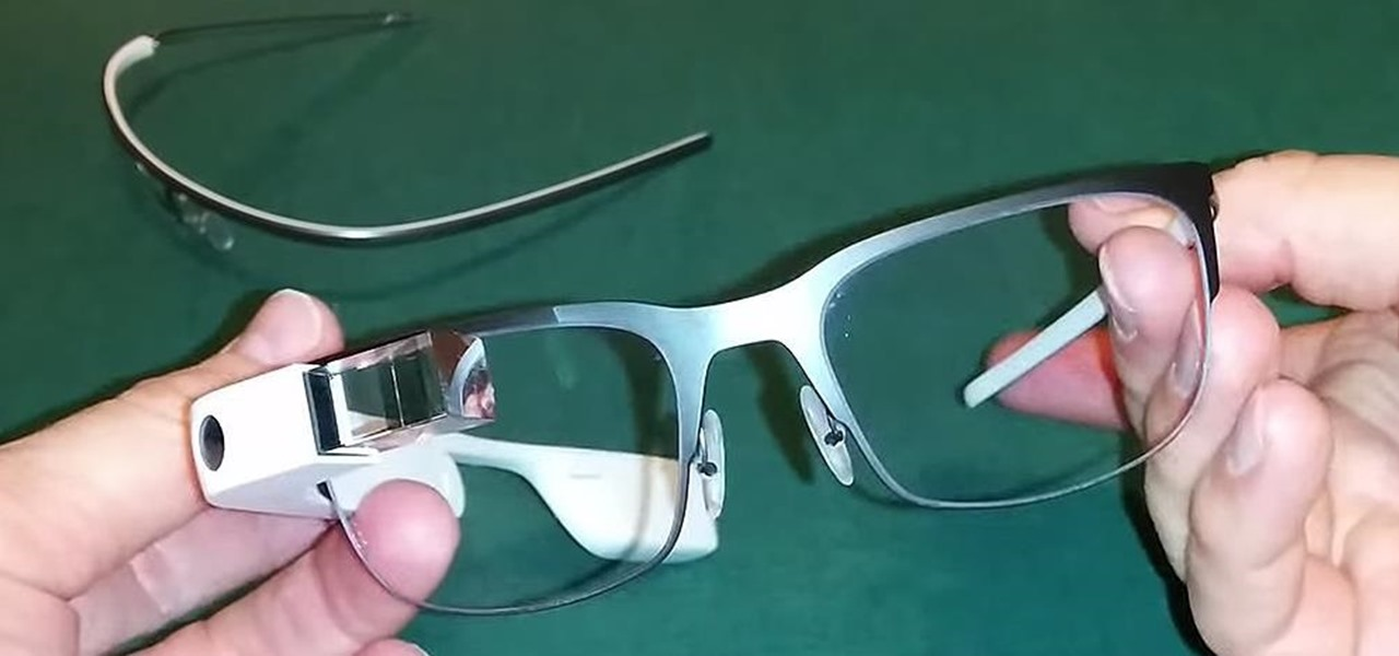 Mod Google Glass to Work with Your Prescription Frames
