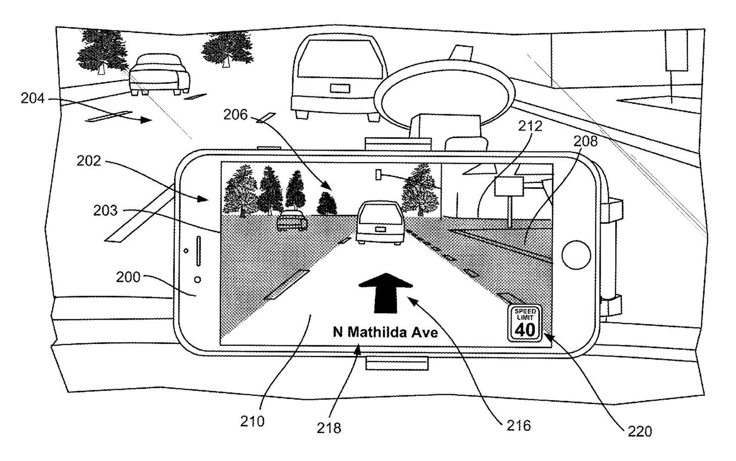 Apple's Latest Patent Proposes Augmented-Reality Navigation for Cars on a Mobile Device
