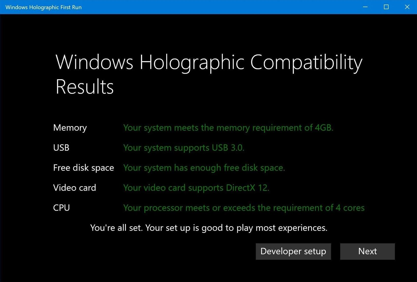 Windows Holographic Lands in Windows 10 Insider Build 14971