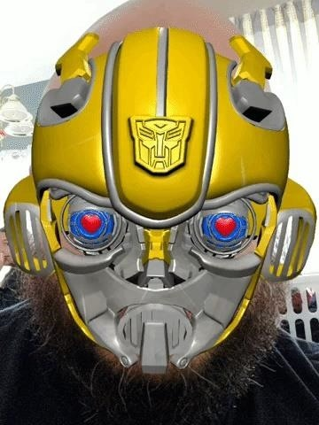 Snapchat Lens Brings Bumblebee Transformer into Your Home & Baidu's Facemoji Keyboard Lets You Become the Robot