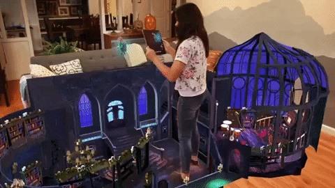 Mobile Developer of Tells Interactive Halloween Tales via Wonderscope AR App