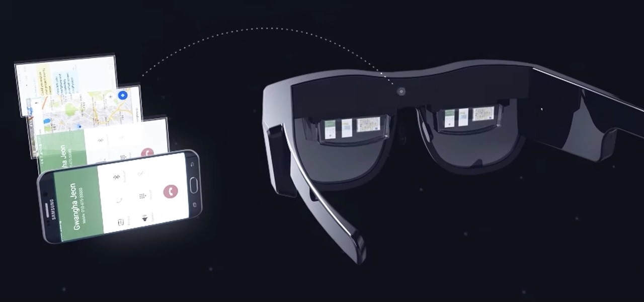 Samsung's 'Monitorless' Remote Desktop Smartglasses Blur the Line Between Virtual & Augmented Reality
