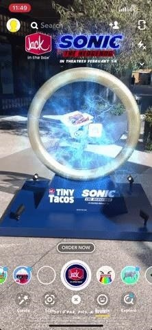 Jack in the Box Partners with Paramount to Promote 'Sonic the Hedgehog' Movie with Snapchat AR