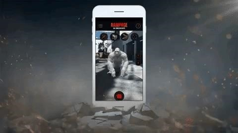 An Augmented Reality Game Brings the Monsters of The Rock's 'Rampage' to Your City Skyline