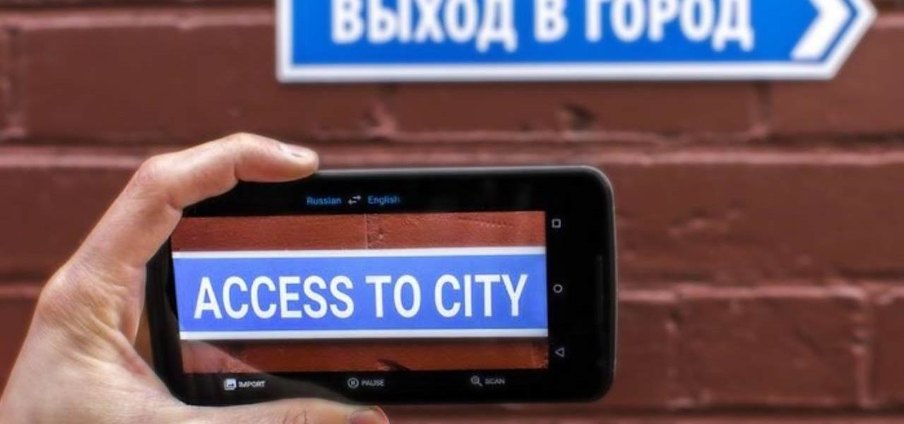 Use Your Smartphone's Camera to Instantly Translate Anything