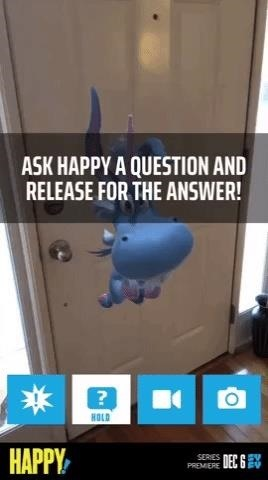 SyFy's New 'Happy!' AR App Gives You a Flying Unicorn Voiced by Patton Oswalt as an Imaginary Friend