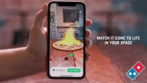 Dominos Australia Provides Virtual Previews of Your Pizza in Augmented Reality