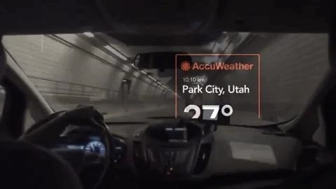 Vuzix Blade Smartglasses informs if the weather outside is a problem with the AccuWeather app