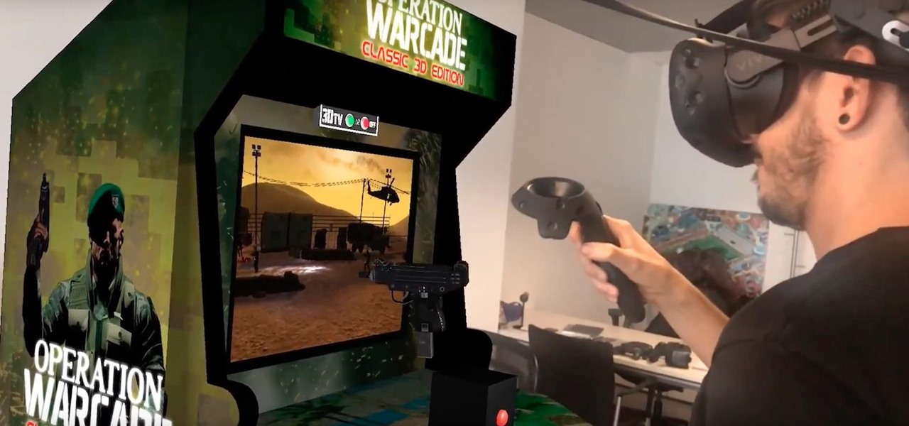 Game Company Creates Playable Augmented Reality Arcade Machine in Their Office