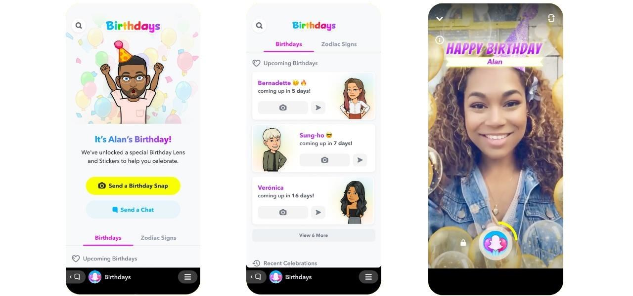 Snapchat Launches Birthdays Mini Feature to Let You Celebrate Your Friends via AR Lenses