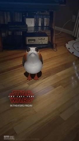 Star Wars Unleashes Adorable AR Porgs via Snapchat
