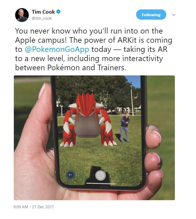 Twitter Hijacks Tim Cook's Pokémon Go Tweet with iPhone Battery Complaints