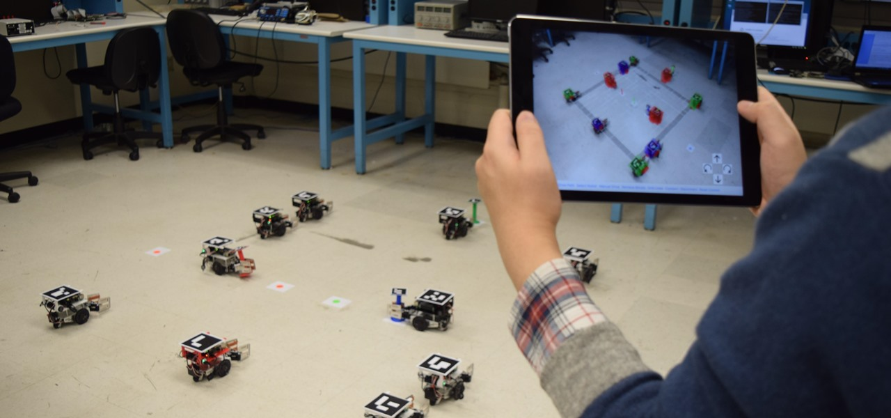 Robot Swarms Could Be Controlled by Your Smartphone, Thanks to AR