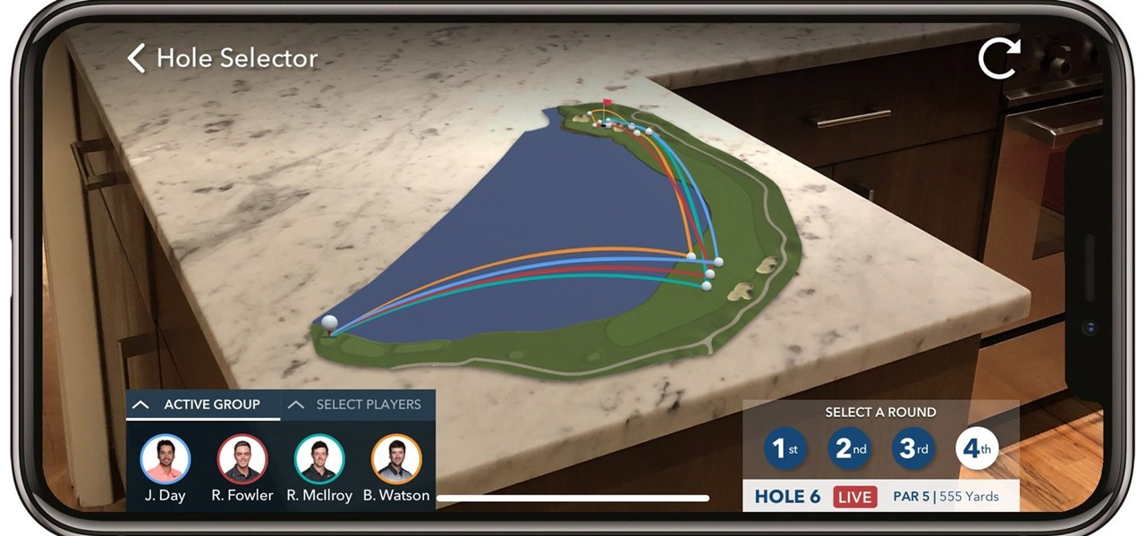 PGA Tour AR App Lets You Follow Golfers Live on Your Coffee Table